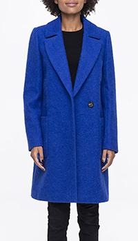 Пальто Trench & Coat из альпаки ярко-синего цвета, фото