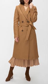 Пальто с поясом Trench & Coat Tournon темно-бежевого цвета, фото