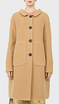 Шерстяное пальто N21 с накладными карманами, фото