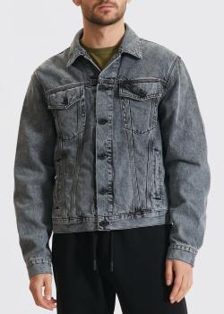 Серая куртка Off-White с принтом на спине, фото