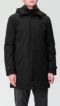 Удлиненная куртка Paoloni в черном цвете, фото