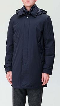 Синяя куртка Paoloni на пуговицах, фото