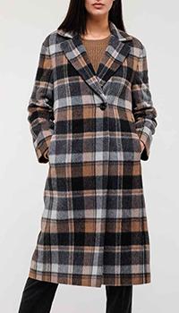 Клетчатое пальто Peserico из шерсти альпаки, фото