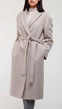 Серое пальто Peserico с поясом, фото
