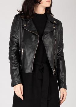 Кожаная косуха Silvian Heach черного цвета, фото