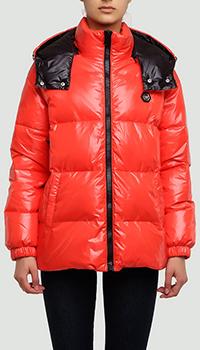 Красная куртка Philipp Plein Anniversary 20th с логотипом, фото