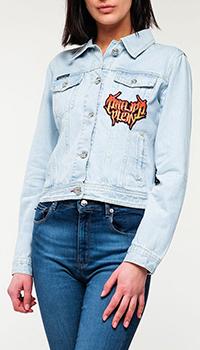 Куртка Philipp Plein джинсовая с нашивками, фото