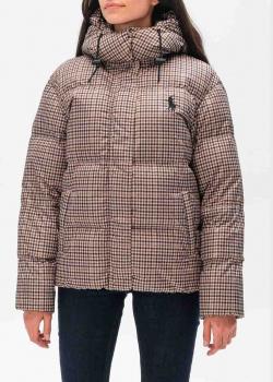 Клетчатый пуховик Polo Ralph Lauren с капюшоном, фото