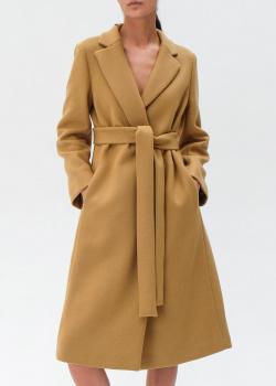 Шерстяное пальто Red Valentino с поясом, фото