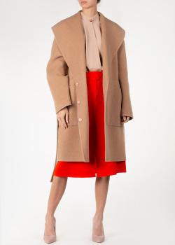 Бежевое пальто Rochas с поясом, фото