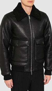 Черная куртка Dsquared2 из экокожи, фото