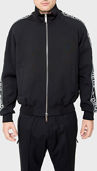 Куртка Dsquared2 черного цвета с принтом, фото