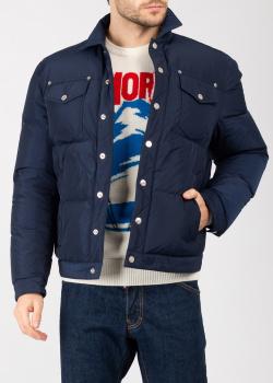 Стеганая куртка Dsquared2 синего цвета, фото