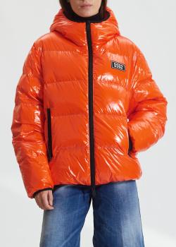 Женский пуховик Dsquared2 оранжевого цвета, фото