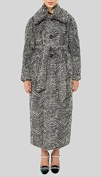 Длинное пальто Dsquared2 с поясом, фото