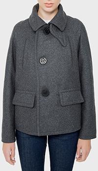 Короткое пальто Dsquared2 серого цвета, фото