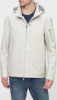 Бежевая куртка Herno с капюшоном, фото