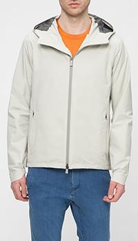 Куртка Herno молочного цвета с капюшоном, фото