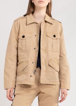 Бежевая куртка Zadig & Voltaire с брендовой вышивкой, фото