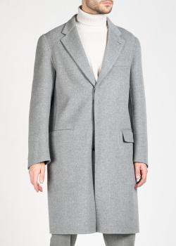 Шерстяное пальто Brioni серого цвета, фото