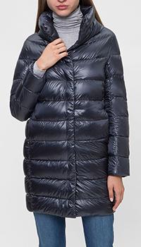 Темно-синяя куртка Herno со стоячим воротником, фото