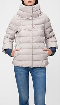 Светло-серая куртка Herno с укороченным рукавом, фото