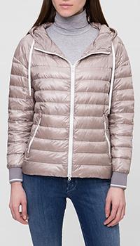Розовая куртка Herno с капюшоном, фото