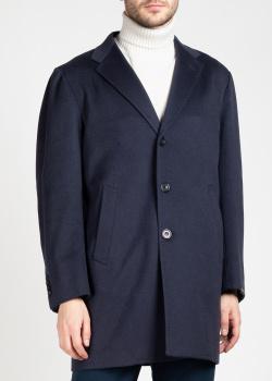Кашемировое пальто Sartorio Napoli синего цвета, фото