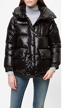 Лаковая куртка Woolrich дутая с воротником, фото