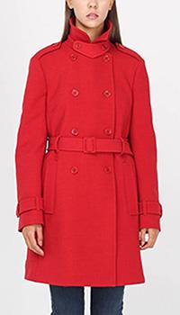 Демисезонное двубортное пальто Red Valentino красного цвета, фото