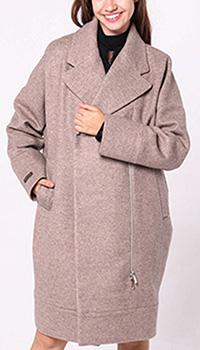 Пальто оверсайз Peserico бежевого цвета кашемир, фото
