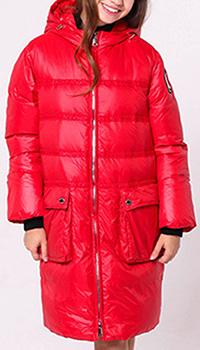Красный пуховик Ermanno Scervino с накладными карманами, фото
