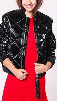 Короткая куртка Philipp Plein черного цвета, фото