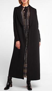 Длинное пальто Twin-Set черного цвета, фото