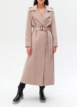 Бежевое пальто Twin-Set из смесовой шерсти, фото