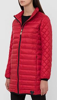 Красная куртка Twin-Set с геометрической стежкой, фото