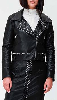 Куртка из экокожи Twin-Set с декором-заклепками, фото