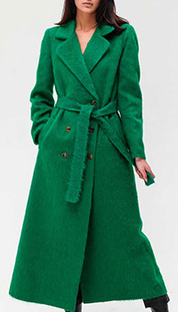 Длинное пальто Twin-Set зеленого цвета, фото