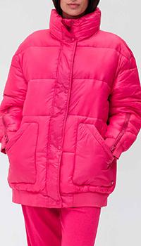 Розовый пуховик Twin-Set с накладными карманами, фото