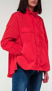 Красная куртка Twin-Set с плиссировкой на спине, фото