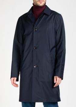 Синее пальто Kiton с карманами, фото