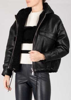 Кожаная куртка Max&Moi черного цвета, фото