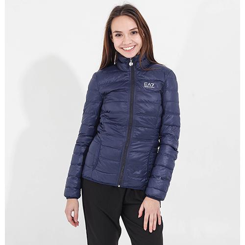Легкая пуховая куртка Ea7 Emporio Armani синяя, фото