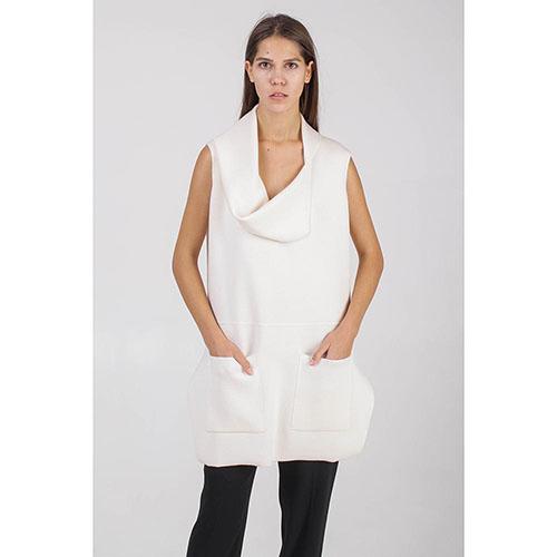 Жилет Sonia Rykiel бежевого цвета с крупными карманами, фото