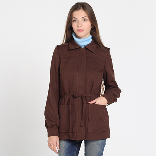 Коричневое шерстяное пальто Kristina Mamedova, фото