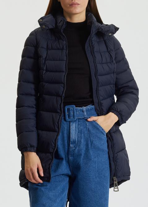 Синяя куртка Trussardi Collection с капюшоном, фото