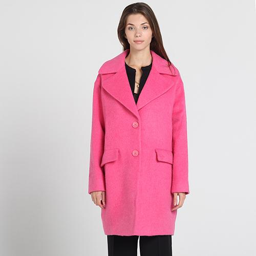 Розовое пальто Atos Lombardini прямого кроя, фото