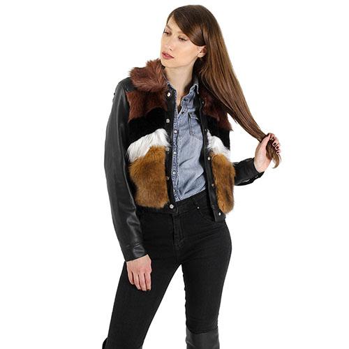 Куртка Urbancode London со вставками из искусственного меха, фото