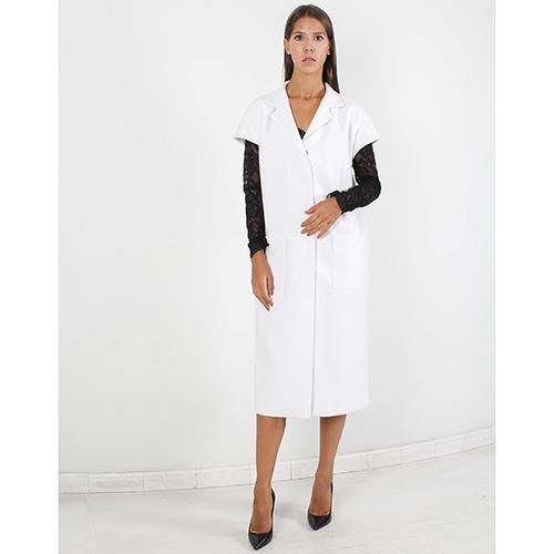 Пальто Plein Sud белого цвета с коротким рукавом, фото