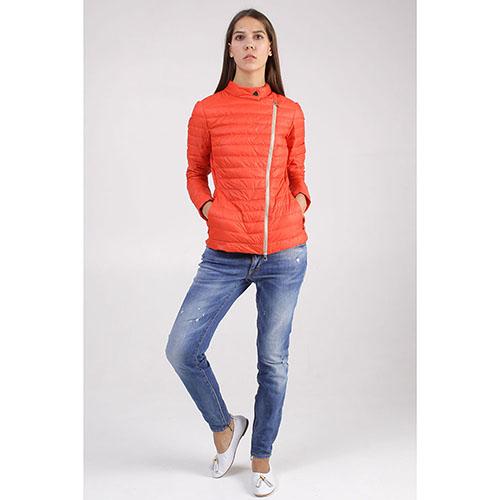 Красная куртка +MINI с ассиметричной молнией, фото